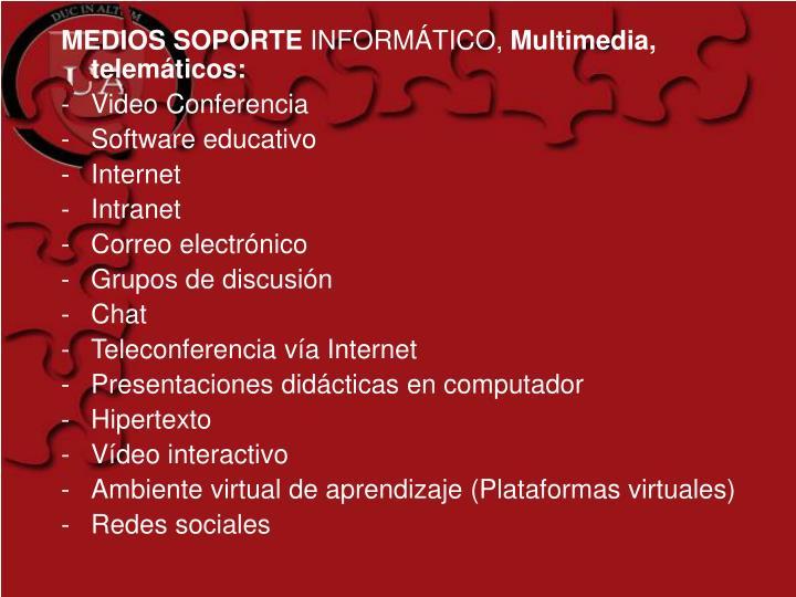 MEDIOS SOPORTE