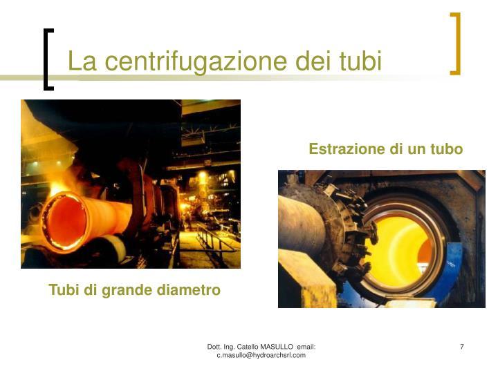 La centrifugazione dei tubi