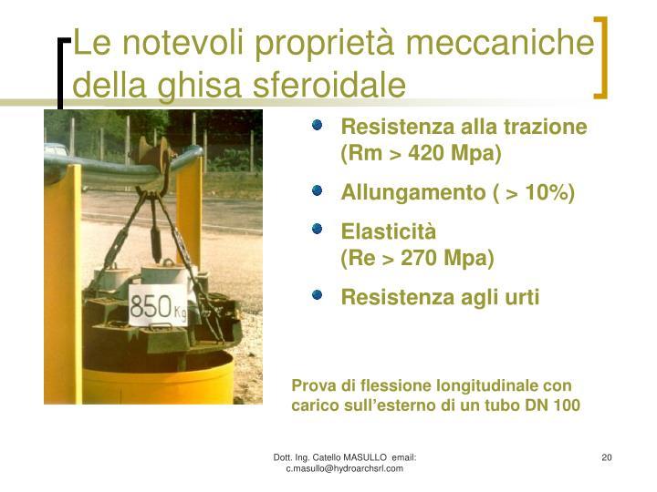 Le notevoli proprietà meccaniche della ghisa sferoidale