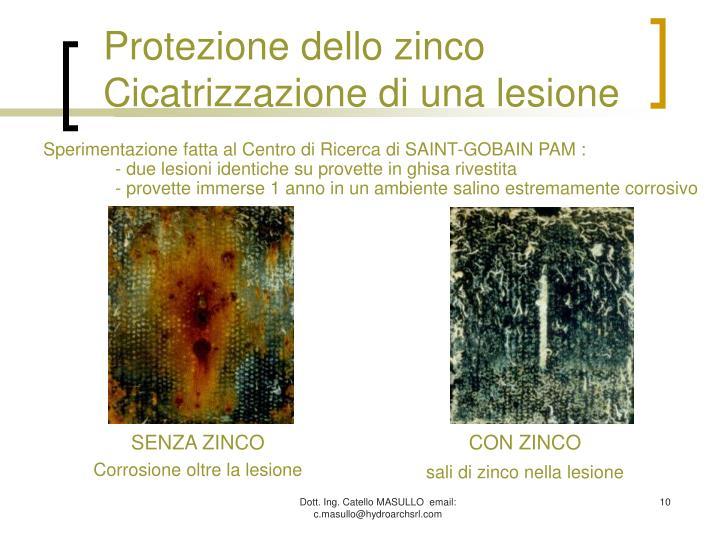Protezione dello zinco