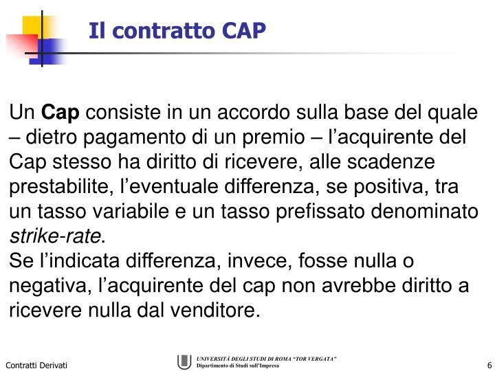 Il contratto CAP