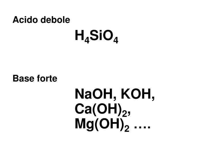 Acido debole