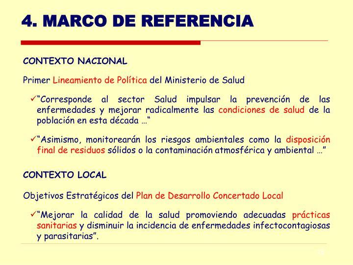 4. MARCO DE REFERENCIA