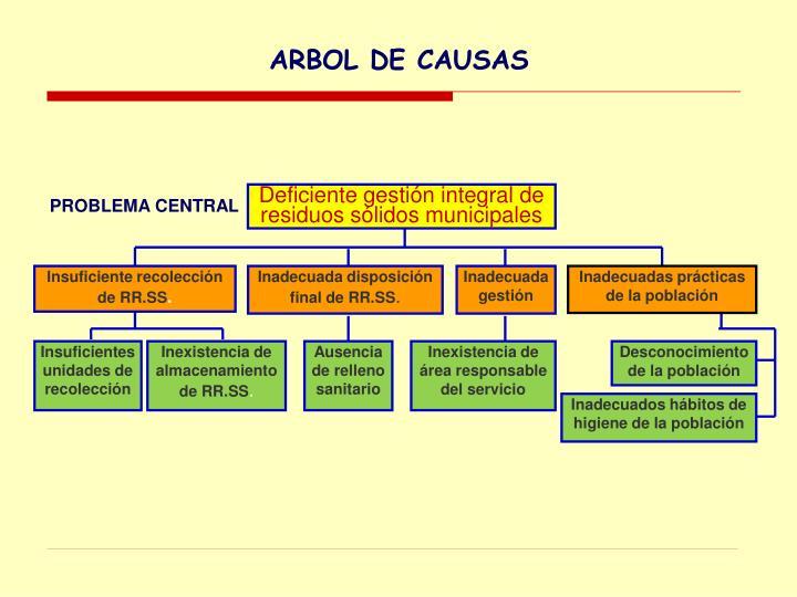 ARBOL DE CAUSAS