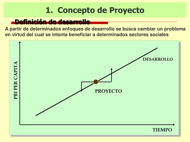 1.  Concepto de Proyecto