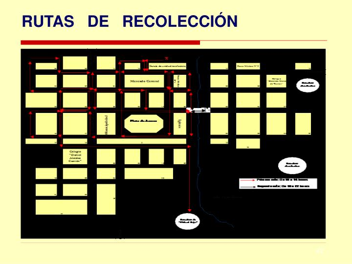 RUTAS   DE   RECOLECCIÓN