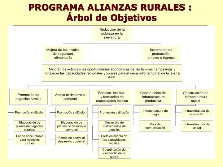 PROGRAMA ALIANZAS RURALES :