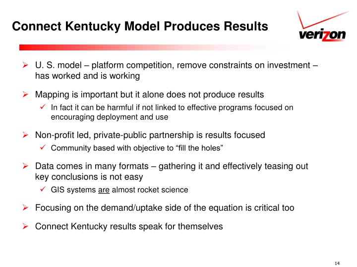 Connect Kentucky Model Produces Results