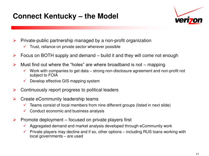 Connect Kentucky – the Model