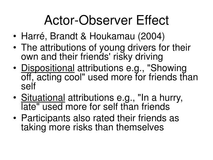 Actor-Observer Effect
