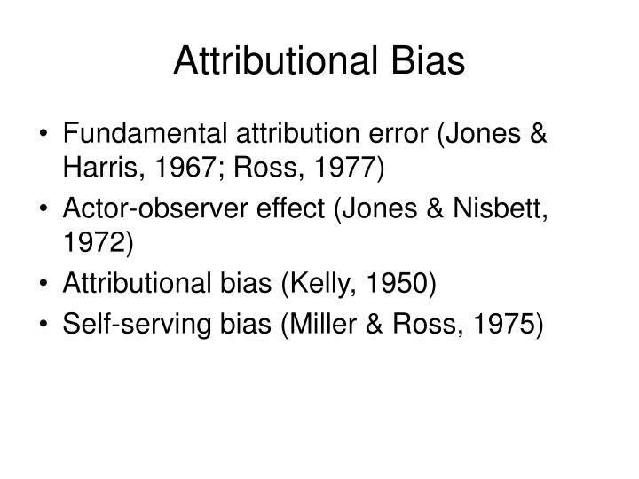 Attributional Bias