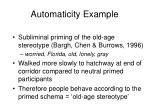 automaticity example