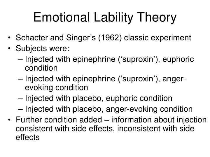 Emotional Lability Theory