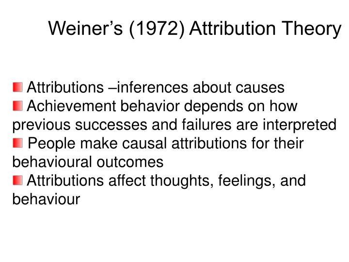Weiner's (1972) Attribution Theory
