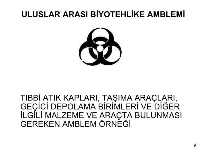 ULUSLAR ARASI BYOTEHLKE AMBLEM