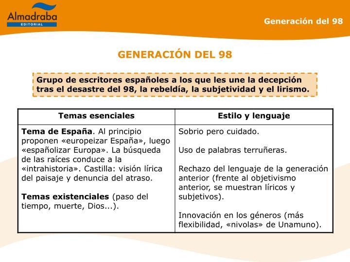 GENERACIÓN DEL 98