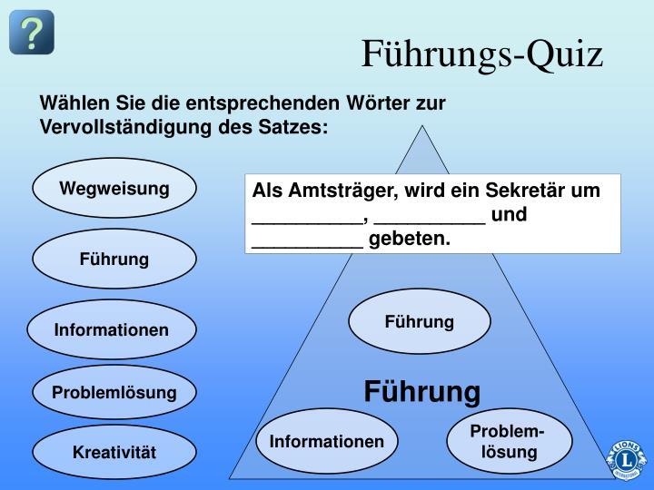 Führungs-Quiz
