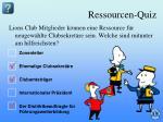 ressourcen quiz