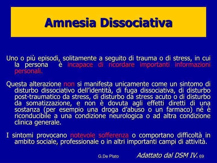 Amnesia Dissociativa