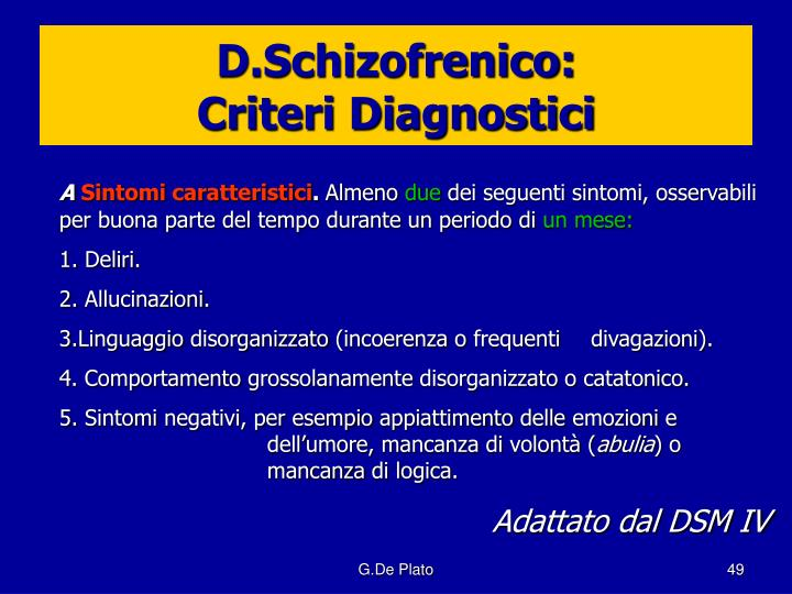 D.Schizofrenico: