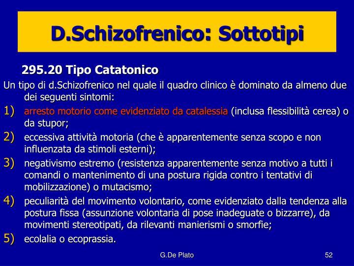 D.Schizofrenico