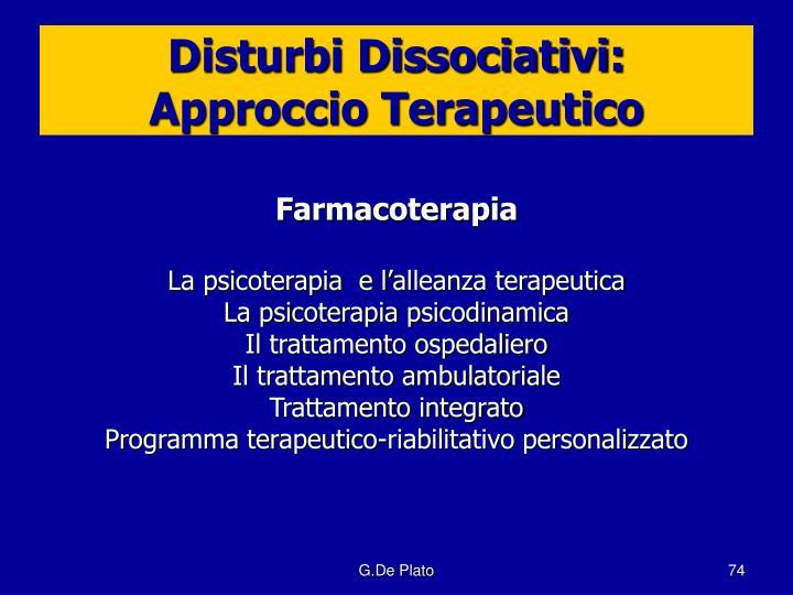 Disturbi Dissociativi: