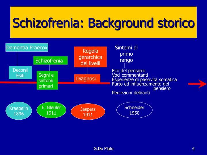 Schizofrenia: Background storico