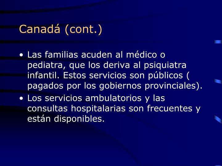 Canadá (cont.)