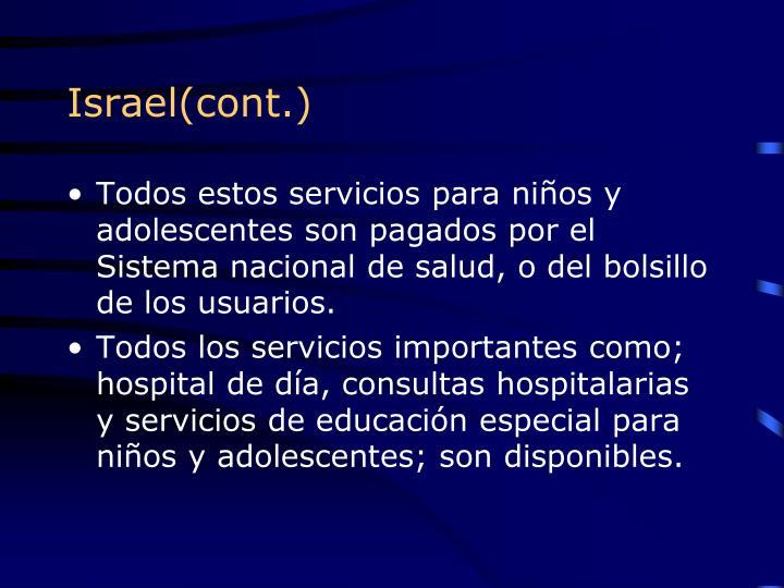 Israel(cont.)