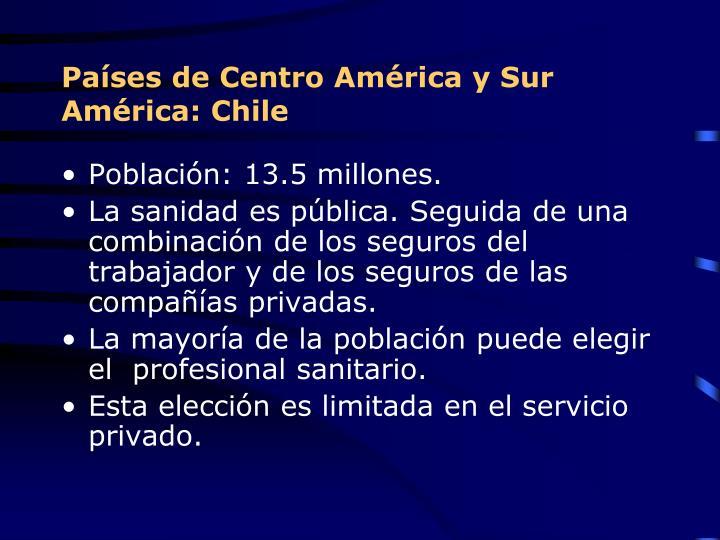Países de Centro América y Sur América: Chile