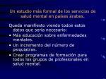 un estudio m s formal de los servicios de salud mental en pa ses rabes2