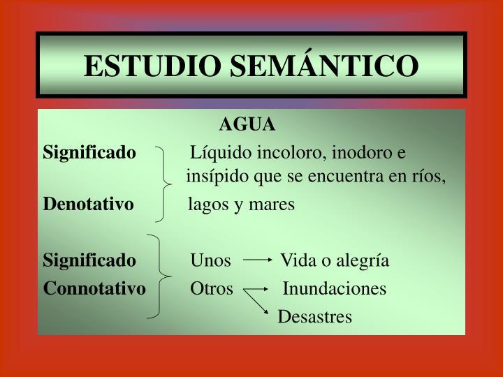 ESTUDIO SEMÁNTICO