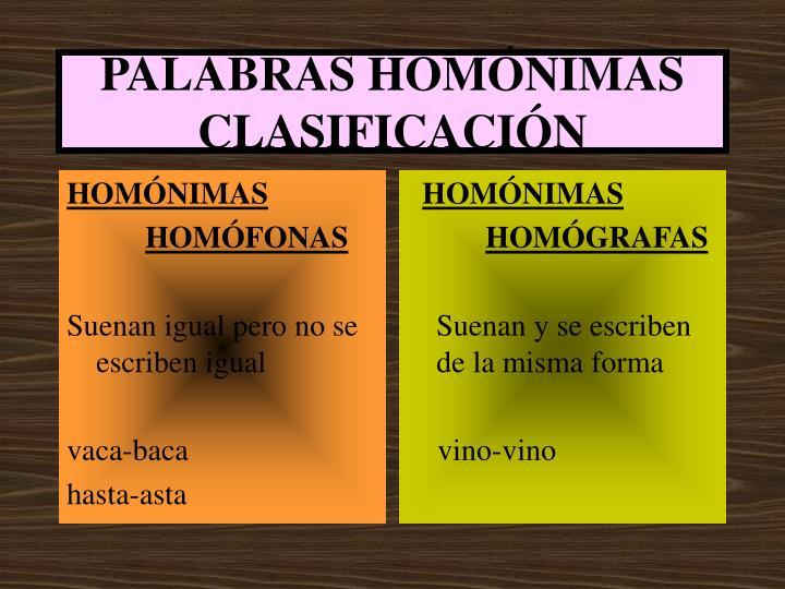 HOMÓNIMAS