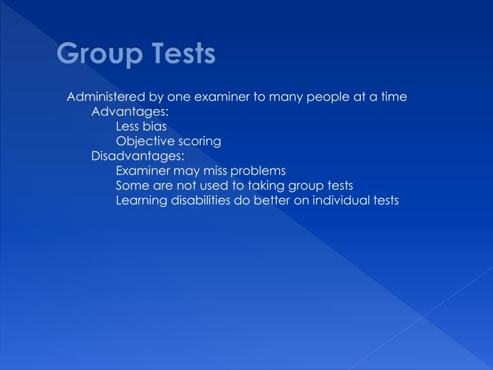 Group Tests