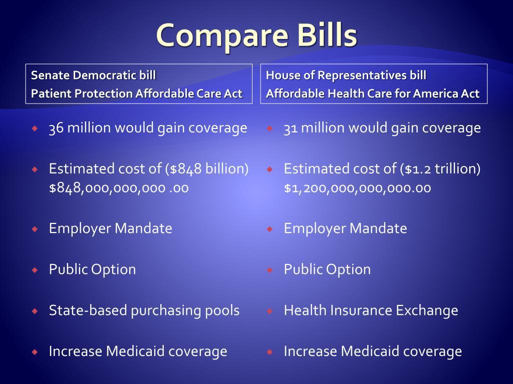 Compare Bills