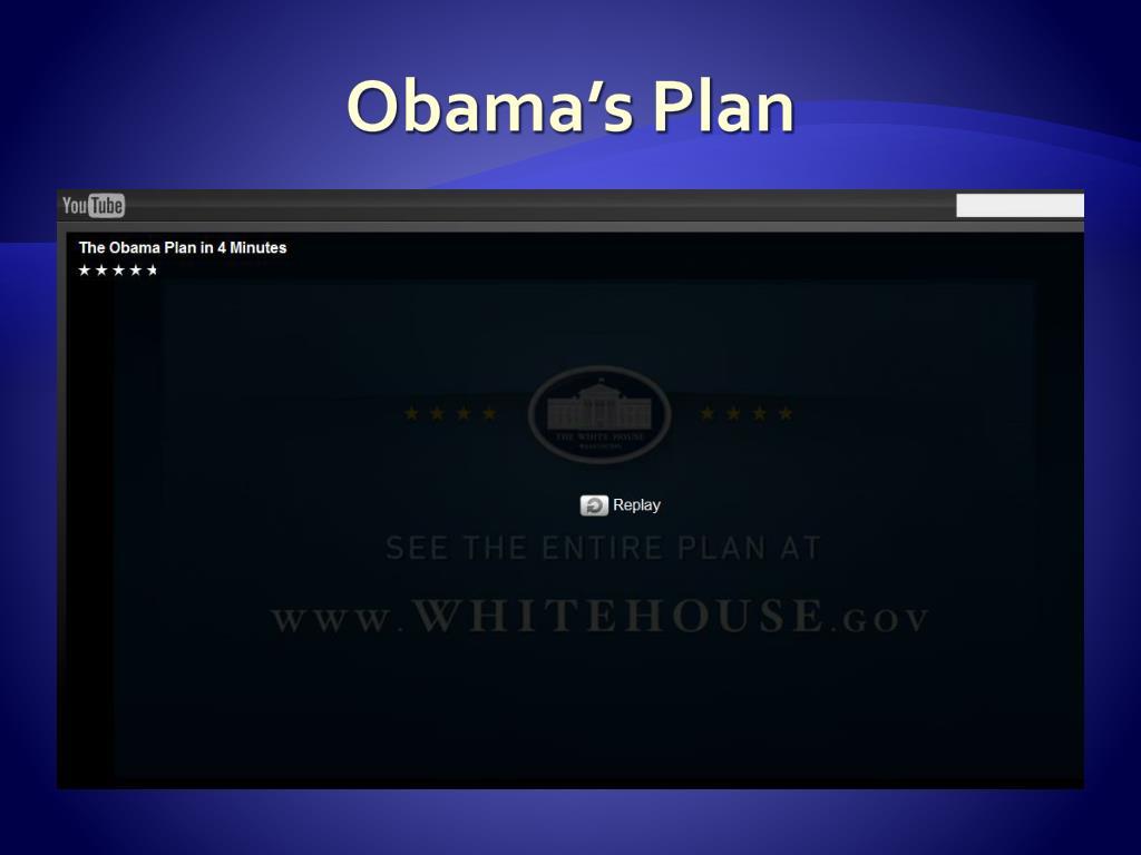 Obama's Plan