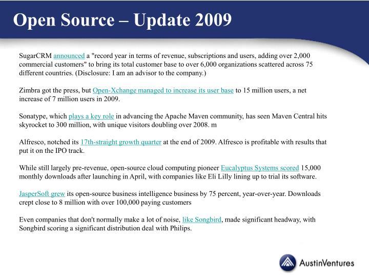 Open Source – Update 2009