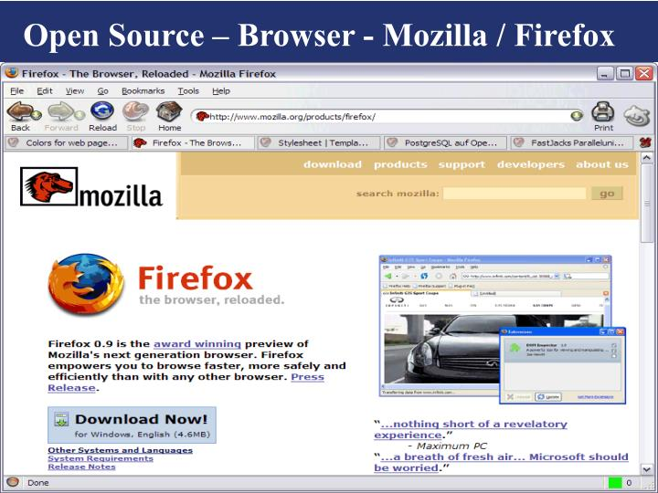 Open Source – Browser - Mozilla / Firefox
