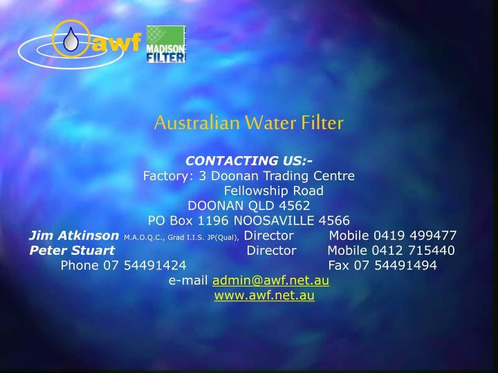 Australian Water Filter