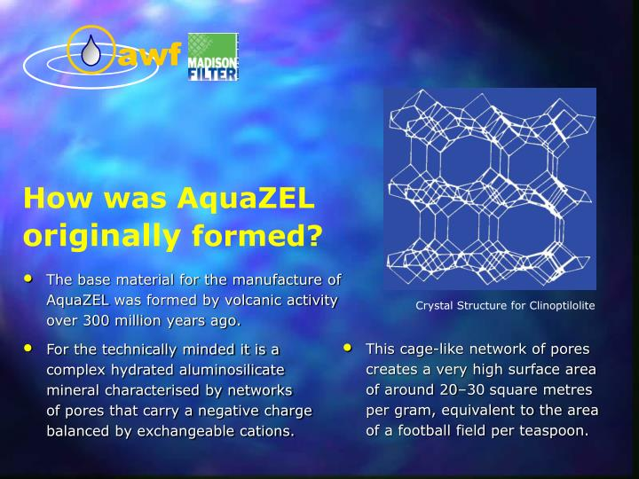 The base material for the manufacture of AquaZEL