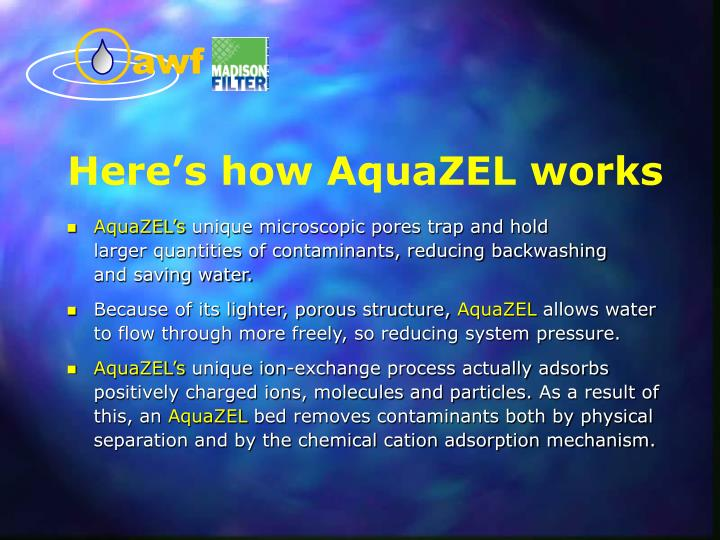 Here's how AquaZEL works