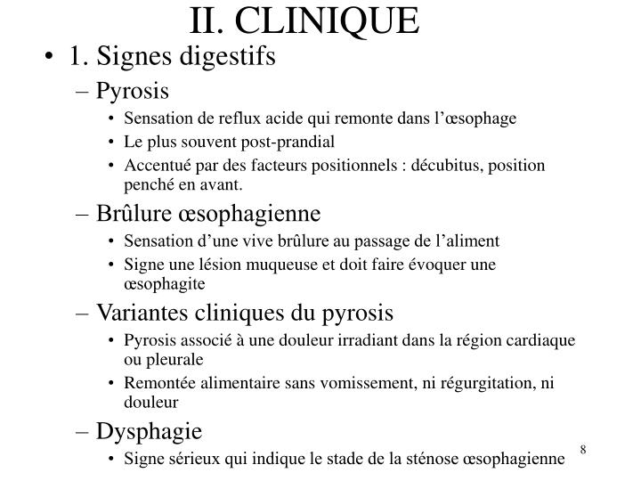 II. CLINIQUE