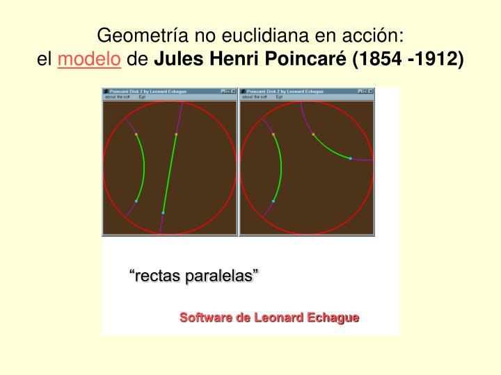 Geometría no euclidiana en acción: