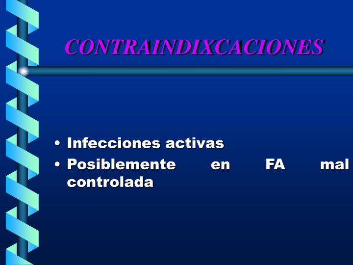 CONTRAINDIXCACIONES