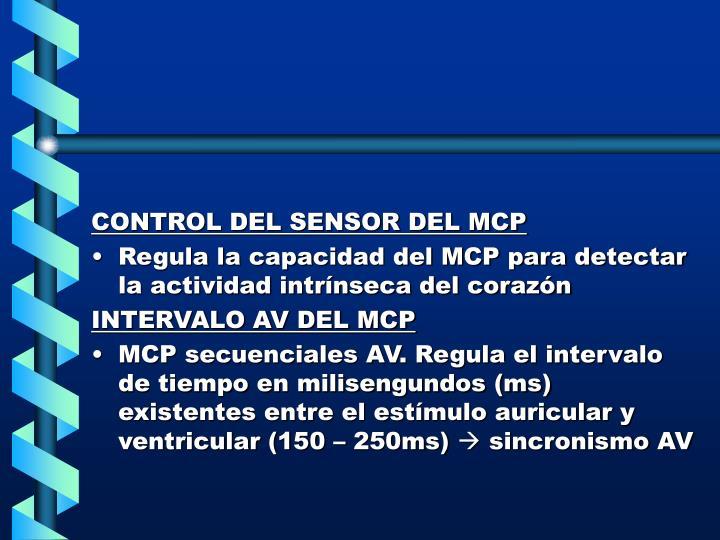 CONTROL DEL SENSOR DEL MCP
