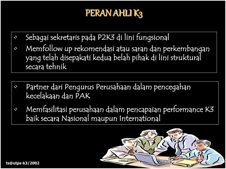 PERAN AHLI K3