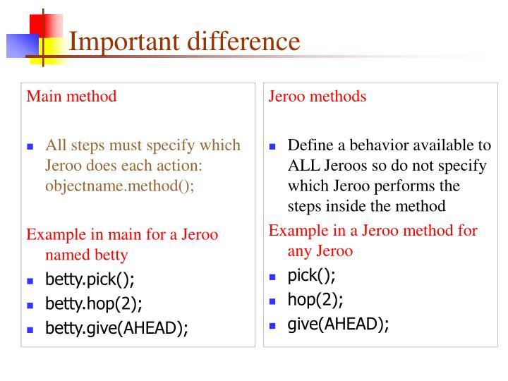 Jeroo methods