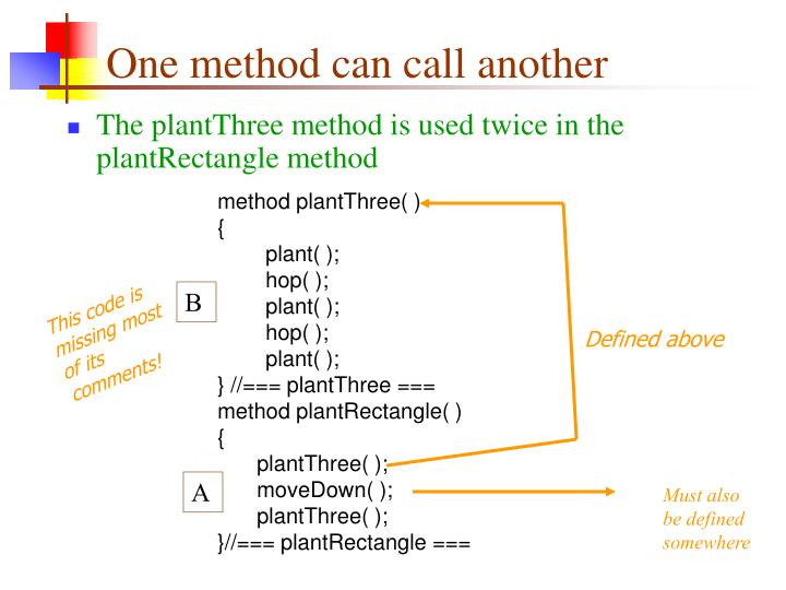 One method can call another
