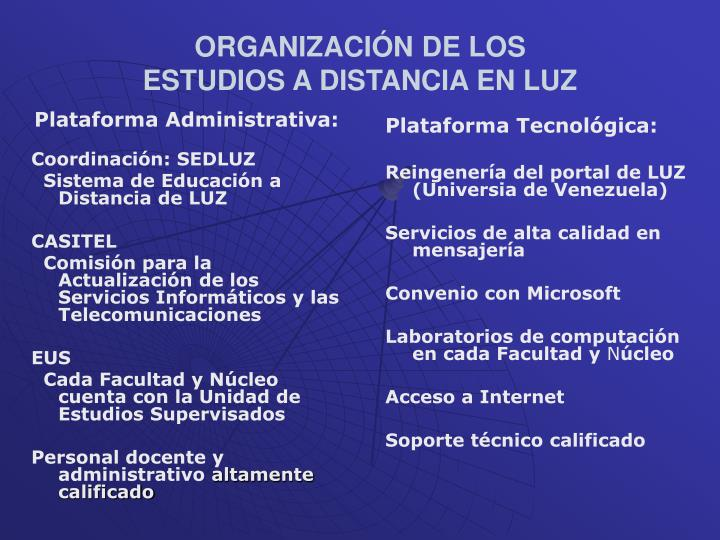 Plataforma Administrativa: