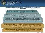 mision del mavdt e institutos de investigacion ambiental